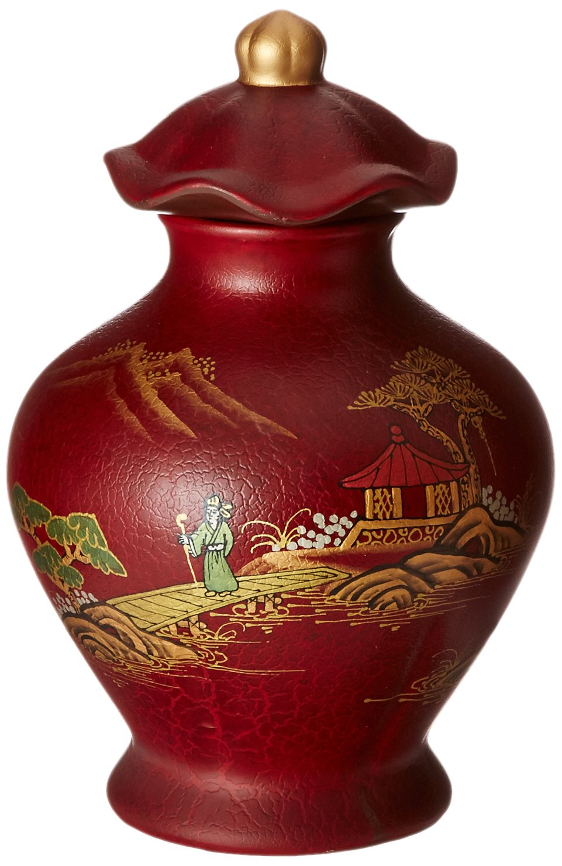 Oriental Furniture 14 Red Temple Jar POR-TJV-RC