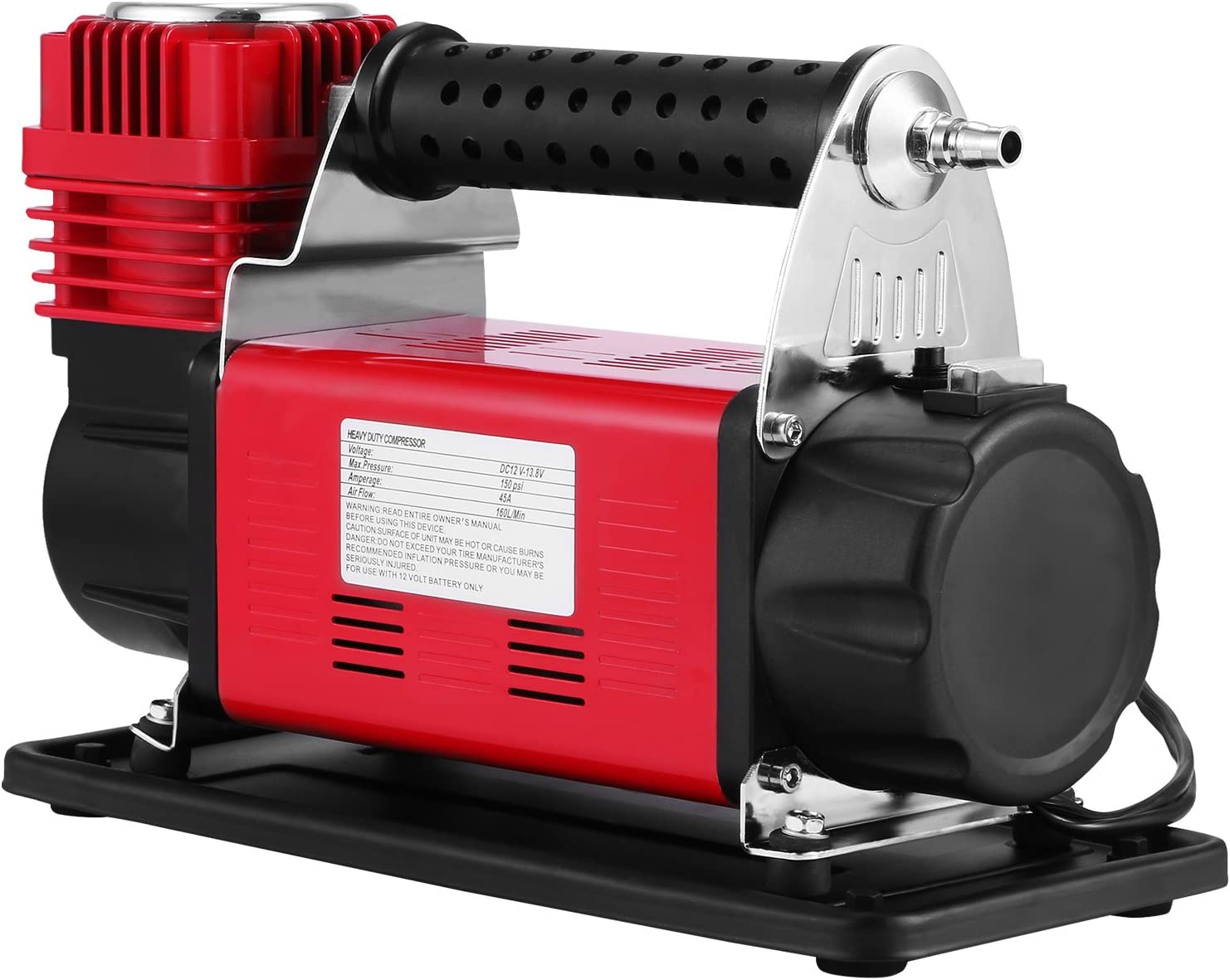 Mophorn Compresor de Aire Portátil para Trabajo Pesado 12 V Bomba de Aire Kit de Compresor de Aire Mini Compresor de Aire