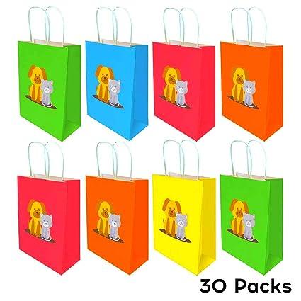 Amazon.com: NIMU 30 piezas arco iris gato y perro papel ...