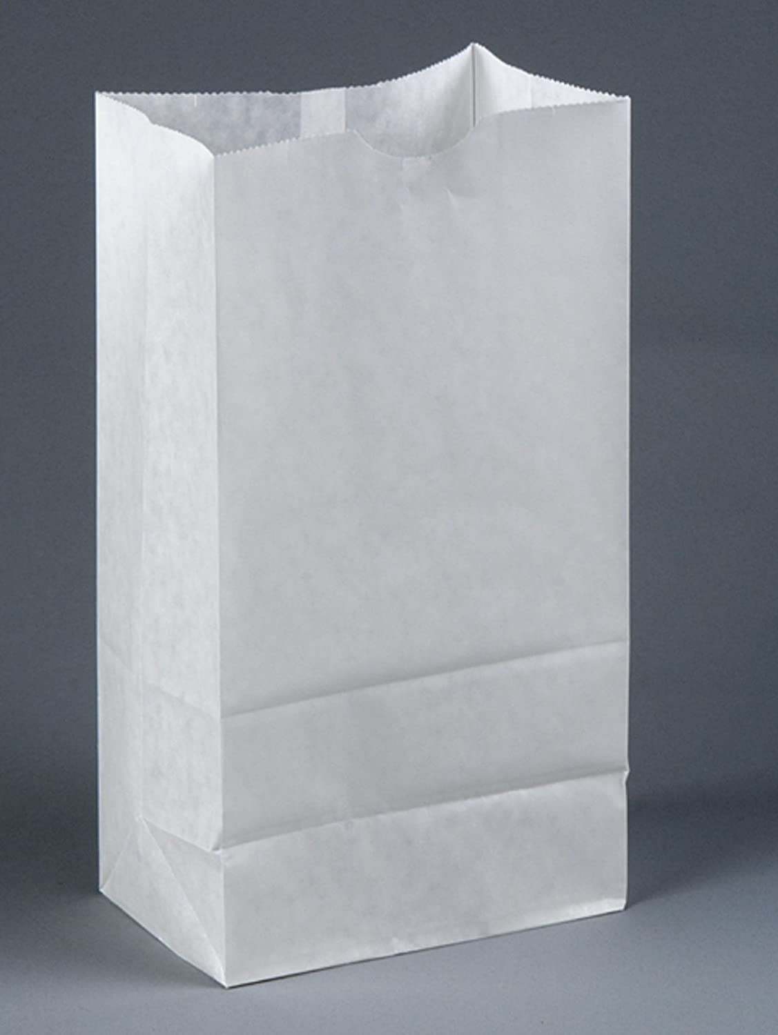 Brown Paper Goods Plain Wax-Coated Paper Bakery Bag White 6 lb 1000//Case