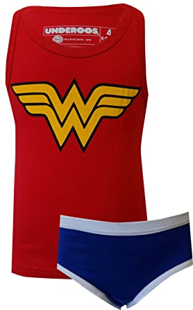 hot-selling genuine biggest discount sale DC COMICS WONDER WOMAN Underoos Top And Panty Girls Underwear 2pc Set XS-M  NEW