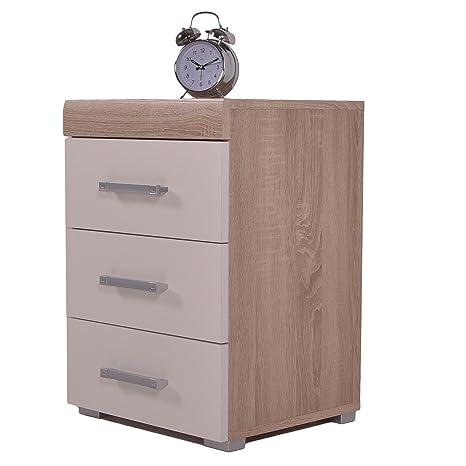 Terrific Dr 3 Drawer Bedside Cabinet White Oak Effect Bedroom Furniture Home Interior And Landscaping Ponolsignezvosmurscom