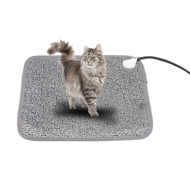 MALLOOM Electric Pet Heating Mat Blanket Heated Cat Dog Heater Pad Bed Winter Waterproof Indoor Outdoor