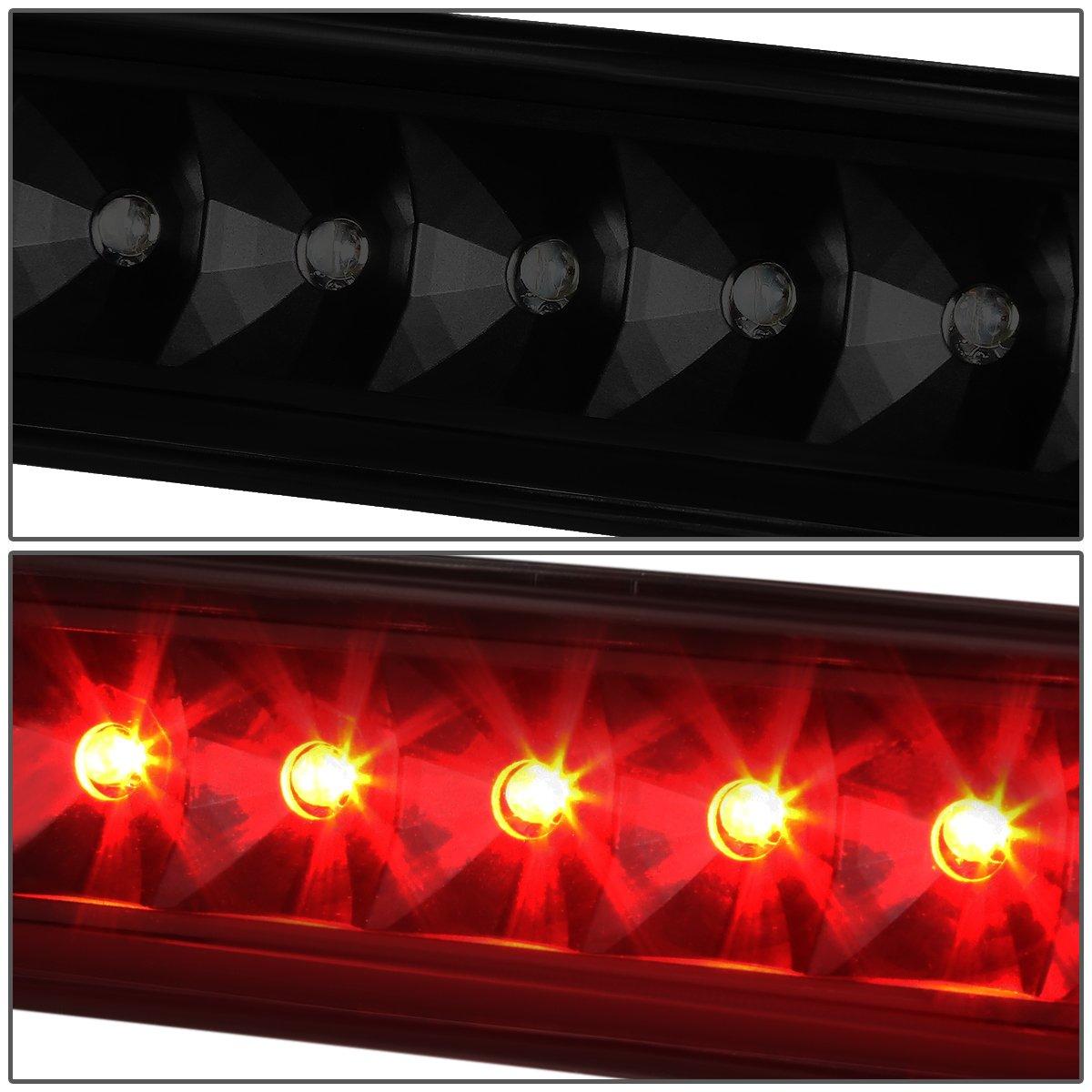 DNA MOTORING Black Smoke 3BL-JW97-LED-BK-SM LED Third 3rd Brake Light 97-06 Jeep Wrangler