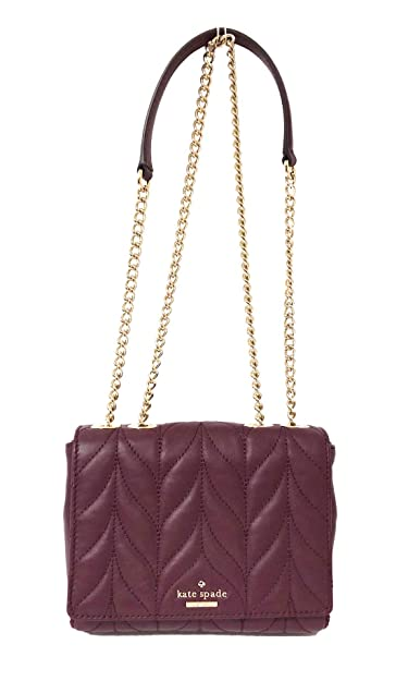 Amazon.com  Kate Spade Briar Lane Quilted Mini Emelyn Chain Leather Crossbody  Handbag (Deep Plum)  Shoes 4991dbae5de59