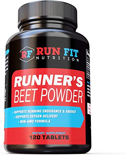 Runner s Beet Powder – Boosts Endurance, Energy, VO2 Max – Natural and Long Lasting – Run Faster for Longer – Made in The USA.
