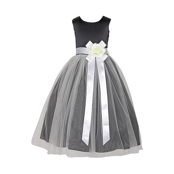 Sofyana Baby Girls Princess White Satin Gown Birthday Party Wear