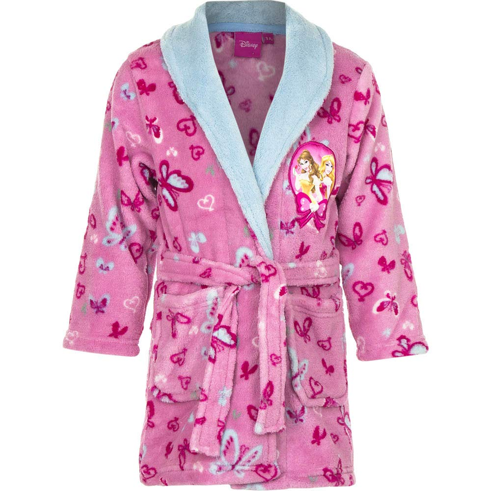 Princess Dressing Gown/Robe Pink/Blue New 3-6 Years