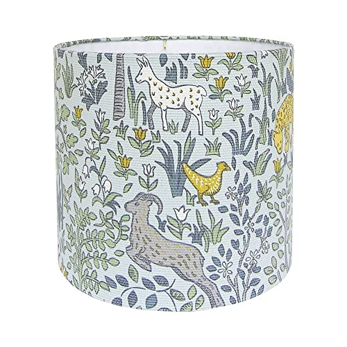 Amazon woodland lamp shade nursery lampshades blue forest woodland lamp shade nursery lampshades blue forest animals various sizes made aloadofball Gallery