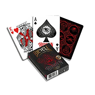 Bicycle 1041160 Hidden Premium Poker Playing Card Deck, Multiple: Toys & Games