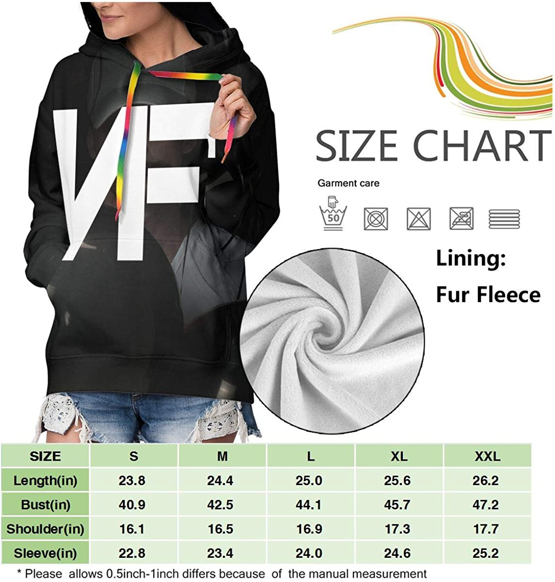 Womens Classic Logo Printed Hoodies Long Sleeve Sweatshirt