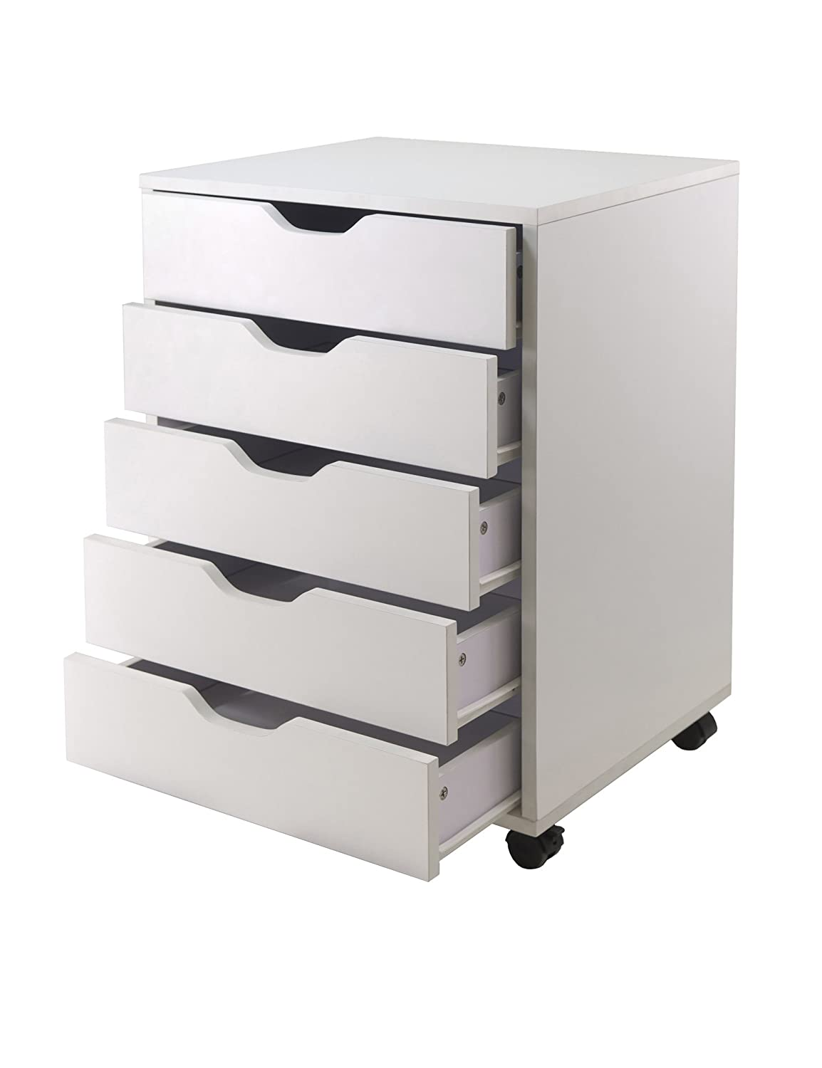 Ordinaire Amazon.com: Winsome Halifax Cabinet For Closet/Office, 5 Drawers, White:  Kitchen U0026 Dining