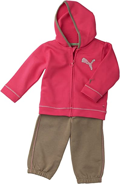 PUMA Niños bebé Traje Basic de Hooded Jogger Rosa Paradise Pink ...