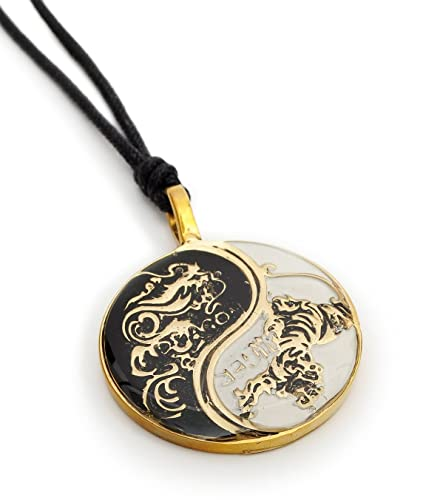 Dragon tiger yin yang connected 1 necklace handmade brass necklace dragon tiger yin yang connected 1 necklace handmade brass necklace pendant jewelry amazon aloadofball Images
