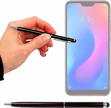 DURAGADGET Lápiz Stylus Negro + Bolígrafo (2 En 1) para Smartphone HAFURY UMAX, Huawei Honor 7S, Land Rover Explore, Xiaomi Redmi 6 Pro: Amazon.es: Electrónica