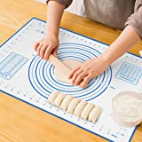 Large Silicone Pastry Mat Extra Thick Non Stick Baking Mat with Measurement Fondant Mat, Counter Mat, Dough Rolling Mat…