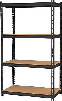 Black Lorell Narrow Steel Shelving Storage Rack