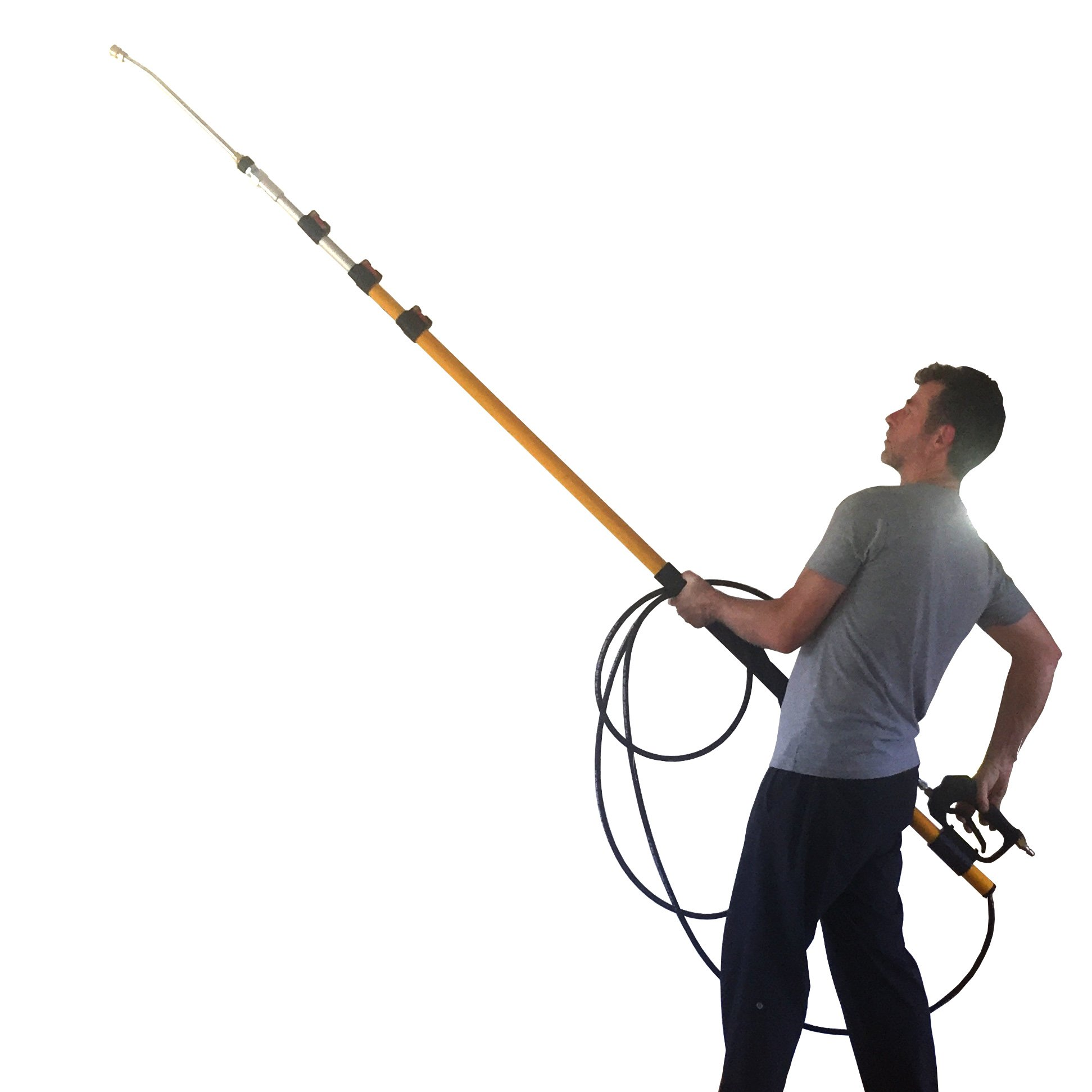EQUIPMAXX 24 feet Long Giraffe Telescoping Lance for Pressure Washers, Extendable, 4 Sections, up to 4000 psi, 8GPM by EQUIPMAXX