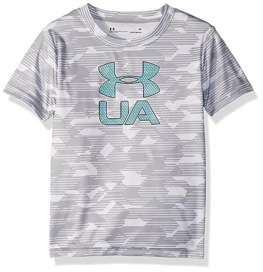 5a02335f4b Under Armour Boys' Toddler Big Logo Short Sleeve Tee Shirt
