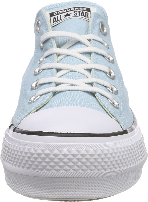 Converse CTAS Lift Ox Ocean Bliss/White/Black, Baskets Femme Bleu Ocean Bliss White Black 456