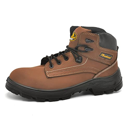 Zapatos de Seguridad Casuales para Hombres - Safetoe 8356 Zapatos Trekking Hombre Diadora Comodos de Piel
