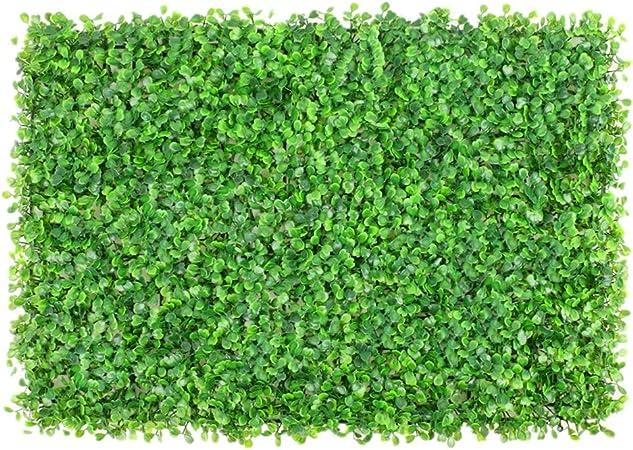 Seto artificial Jardín Del Patio Tras Valla UV Pantalla Artificial Jardín Poda De Plantas De Cobertura Privacidad Decoración Del Hogar 12 Paneles de boj artificial (Color : Verde , tamaño : 60x40cm) : Amazon.es: Hogar