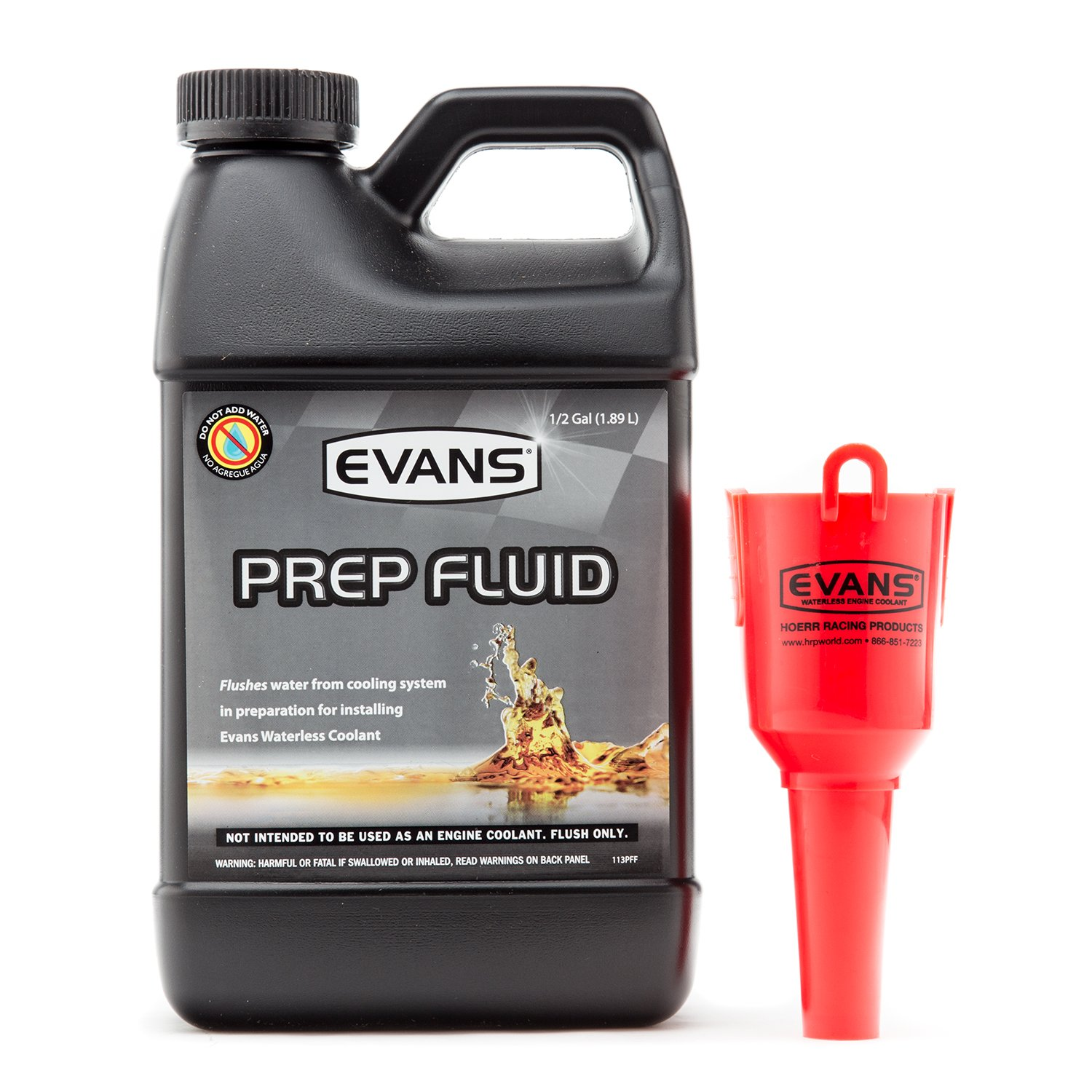 Evans EC42064 Cooling Systems Waterless Prep Fluid With Funnel, 64 fl. Oz.