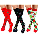 Compression Socks For Men & Women -Funny socks Best Medical All Sports,Travel,Nurse - 20-25 mmHg