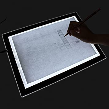 23.5u0026quot; Drawing Tablet, Autolizer Adjustable Brightness Tattoo Tracing  Pad, LED Board Art Drawing