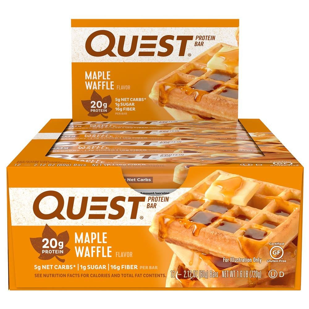 Quest Nutrition Maple Waffle Protein Bar 2018 NEW FLAVOR