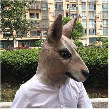 qiaoaoa Disfraz de Canguro de Halloween Jugar máscaras máscara de ...
