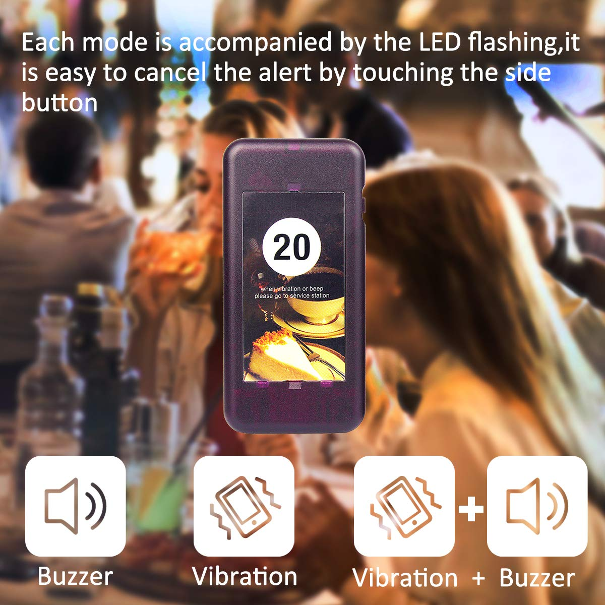 Retekess T112 Restaurant Pager System Queue Wireless Calling System Long Transmission Distance with 30 Coaster Pagers 999 Channel Keypad for Church Nursery Food Truck Coffee Shop by Retekess (Image #6)