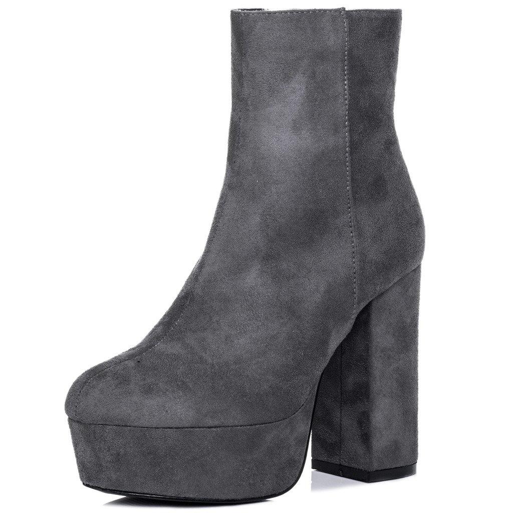 Spylovebuy Vivacious Damen Plateau Blockabsatz Stiefeletten Schuhe