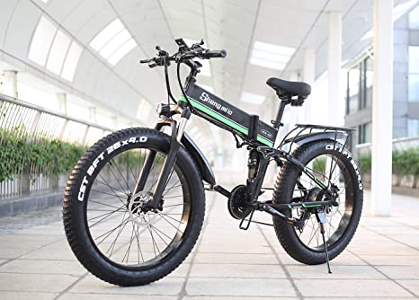 Shengmilo-MX01 26 Pulgadas eléctrica Bicicleta de Nieve, 1000W 48V ...