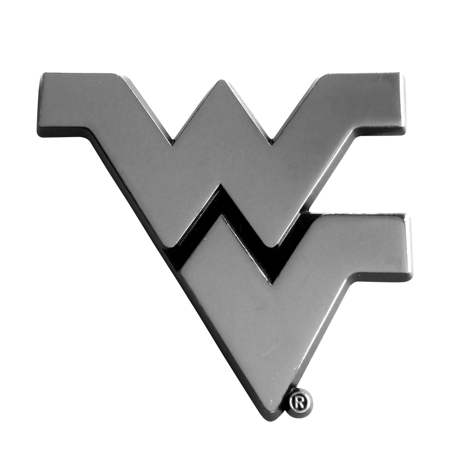 Fanmats  14944 NCAA West Virginia University Mountaineers Chrome Team Emblem