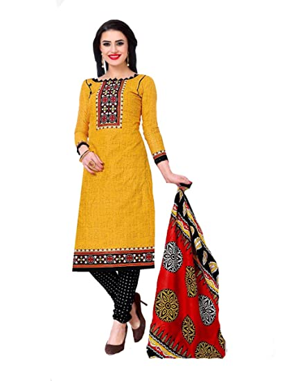 4679547064 Shree Ganesh Retail Womens Printed Churidar Material | Salwar Suit | Salwar  Kameez Unstitched Cotton Dress Material (MULTICOLOURED 4003): Amazon.in: ...