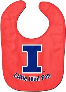 WinCraft NCAA University of Illinois WCRA2018124 All Pro Baby Bib