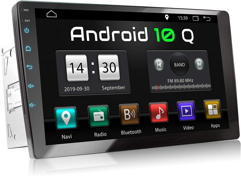 XOMAX XM-2VA1001 Radio de Coche con Android 10 I Quad Core, 2GB RAM, 32 GB ROM I GPS I Soporte WiFi, 3G, 4G, Dab+, OBD2 I Bluetooth I 10