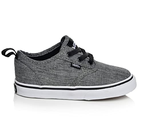 Image Unavailable. Image not available for. Color  Vans Atwood Rock Textile  Black White Toddler ... adba68b4b