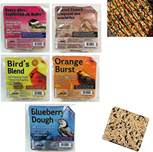 5 Pack Heath Outdoor Products All Season Suet Cake Wild Bird Food Treat 11.25 oz