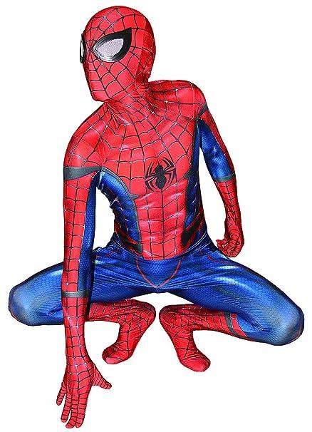 Amazon.com: Traje de Spiderman para niños, de Spandex, para ...
