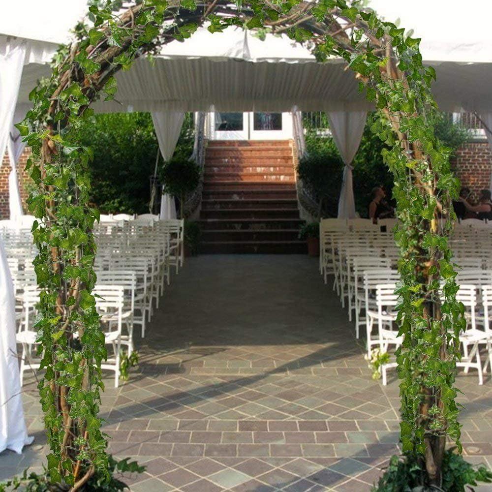 Hiedra artificial de Amkun, pack de 12, para bodas, cocina, exteriores, fiestas: Amazon.es: Jardín