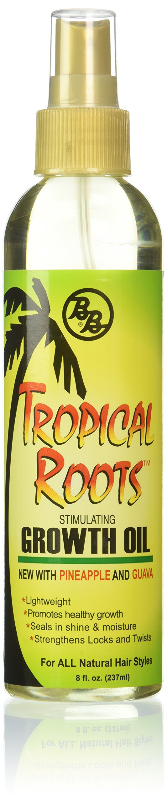 Bronner Brothers Tropical Roots Growth Oil, 8 Fl Oz