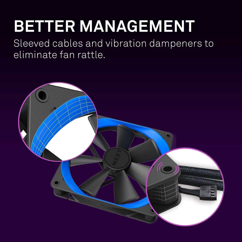 140mm PWM Airflow Fans Gaming Computer Fan Winglet Designed Fan Blades NZXT AER F Fluid Dynamic Bearings