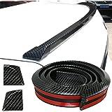GOGOLO Glossy JDM 4.9ft/150CM Universal EPDM Rubber Trunk Car Rear Roof Lip Spoiler Strip for SUV Rear Bumper Lip, 100% Waterproof Protection, Black 150cm x 3.5cm Black