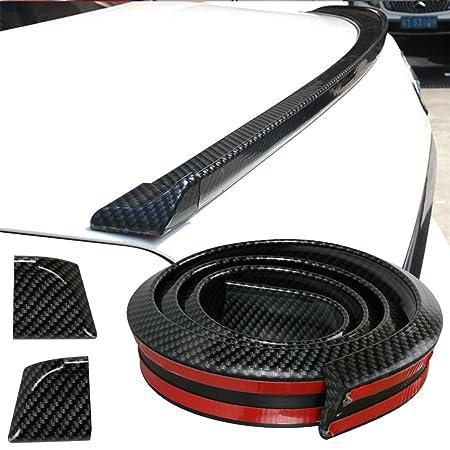 GOGOLO Glossy JDM 4.9ft / 150CM Universal EPDM Gummi Kofferraum Auto Hintere Dach Lippe Spoiler Streifen für SUV Hinten Stoßf