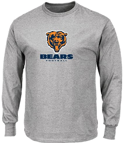 71fdbec4 Image Unavailable. Image not available for. Color: Majestic NFL Chicago  Bears Grey Critical Victory 7 Long Sleeve T Shirt ...