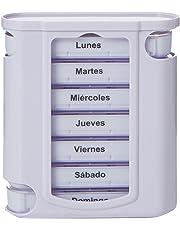 Gima 25755pastillero semanal Tower, 4compartimentos, Español y Portugués