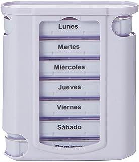 Gima 25755 pastillero semanal Tower, 4 compartimentos, Español y Portugués