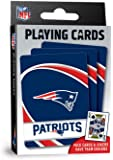 "MasterPieces NFL New England Patriots Playing Cards,Blue,4"" X 0.75"" X 2.625"""